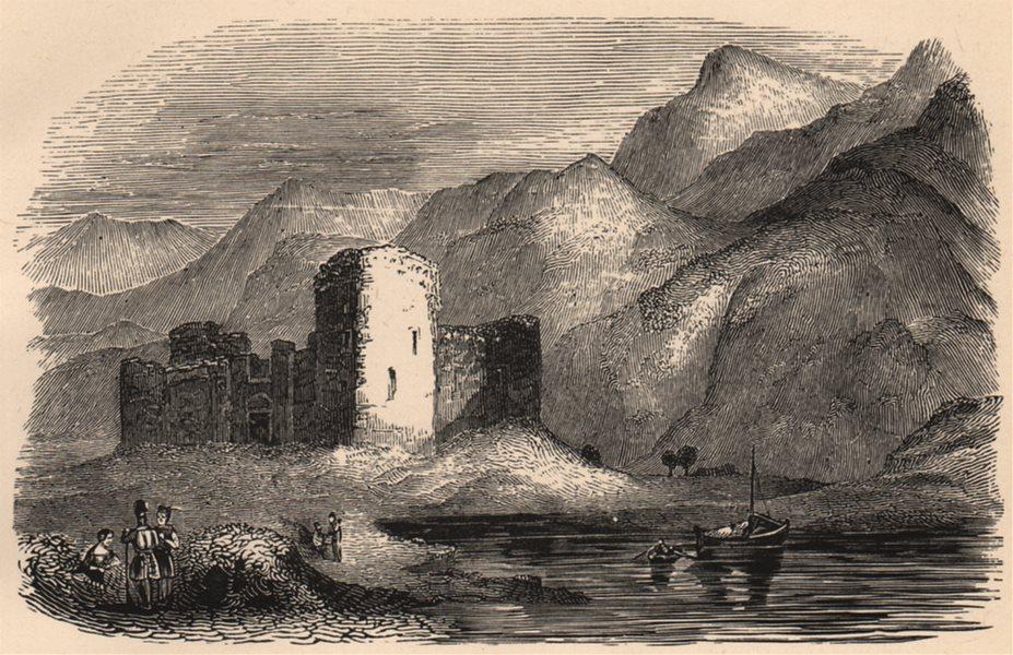 Associate Product INVERNESS-SHIRE. Inverlochy Castle. Scotland 1885 old antique print picture