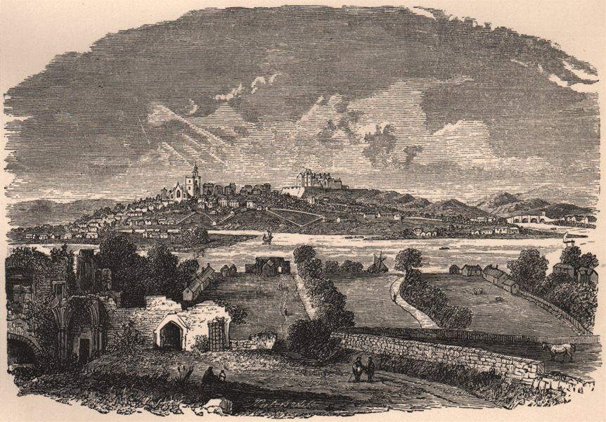 Associate Product STIRLING. View in the beginning of the 18th century. Scotland 1885 old print