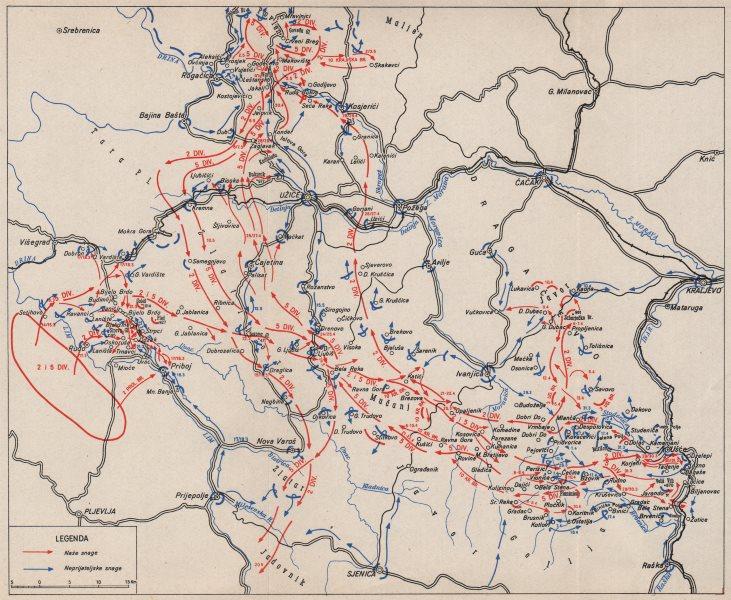 Serbia Uzice Usce Priboj Rogacica 15 March 20 May 1944 1957 Old
