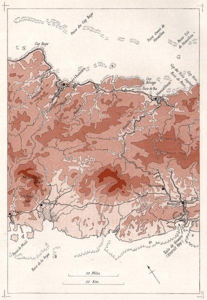 Associate Product MELANESIA.New Caledonia.Ponérihouen-Bourail.WW2 ROYAL NAVY INTELLIGENCE MAP 1944