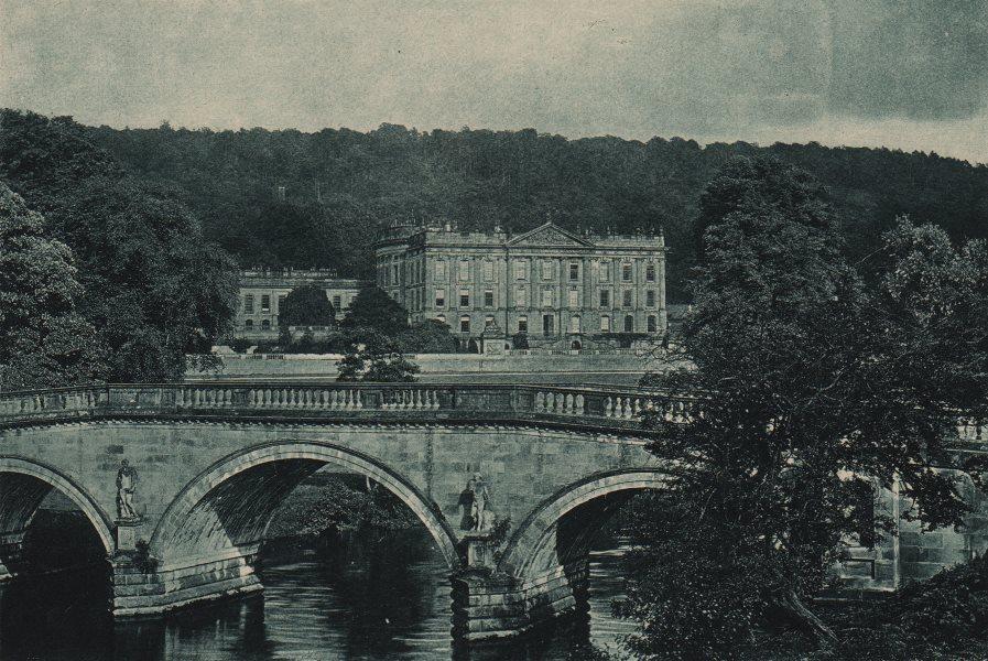 Associate Product DERBYSHIRE. Chatsworth 1893 old antique vintage print picture