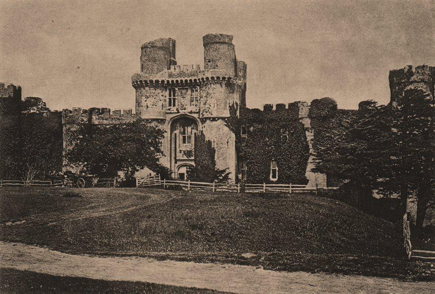 Associate Product WARWICKSHIRE. Warwick Castle 1893 old antique vintage print picture