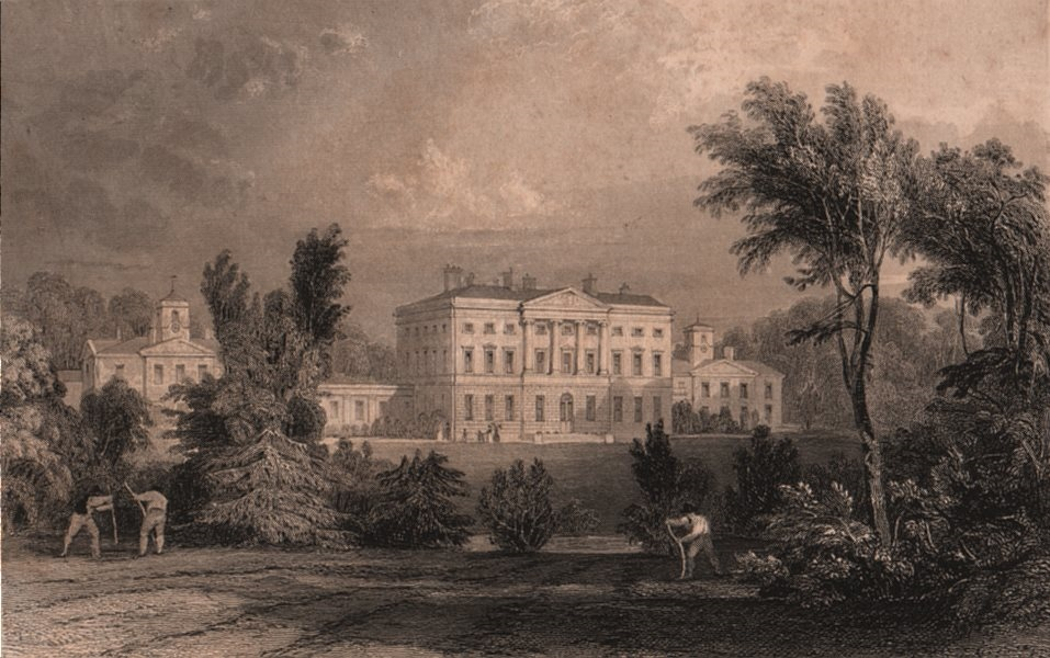 Associate Product NORTHUMBERLAND. Howick Hall. ALLOM 1839 old antique vintage print picture