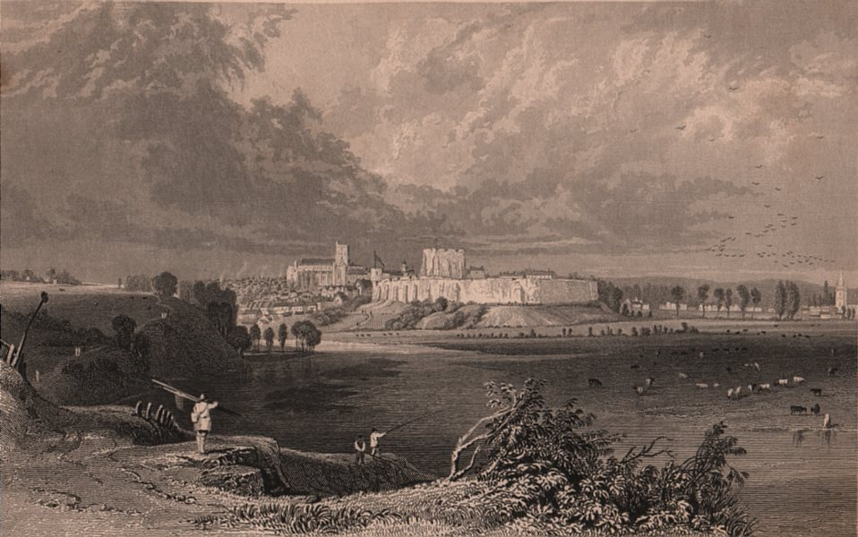 Associate Product CARLISLE. View of the town. Cumbria. ALLOM 1839 old antique print picture