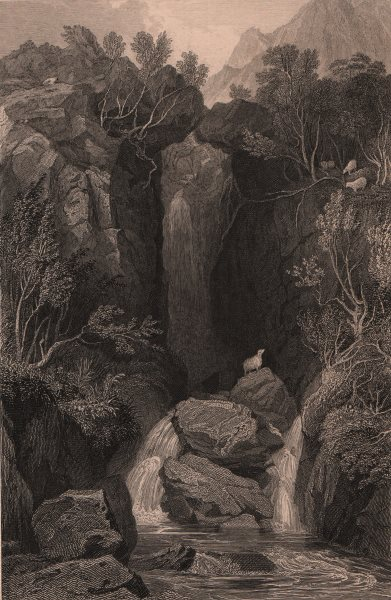Associate Product LAKE DISTRICT. Dungeon Ghyll, Westmoreland. Cumbria. ALLOM 1839 old print
