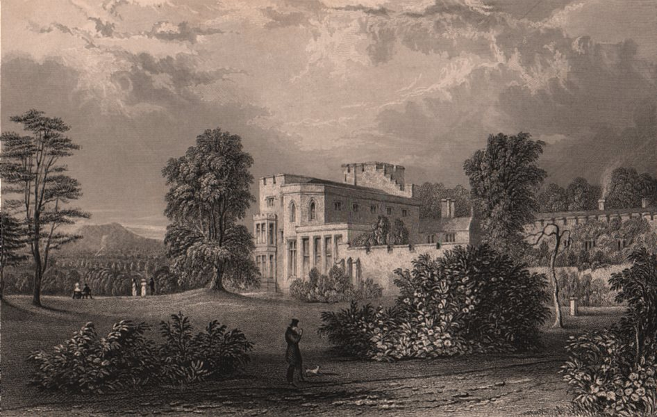Associate Product LAKE DISTRICT. Brougham hall, Westmoreland. Cumbria. ALLOM 1839 old print