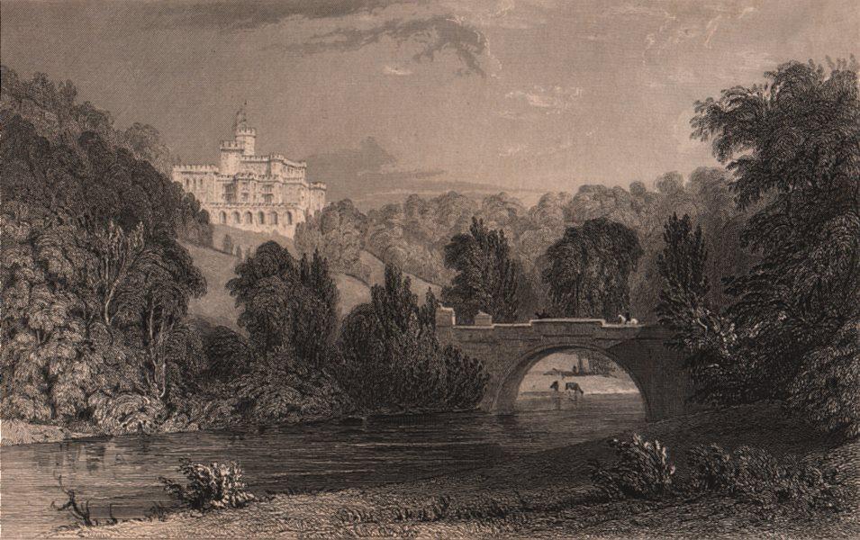 Associate Product COUNTY DURHAM. Lambton Castle. ALLOM 1839 old antique vintage print picture