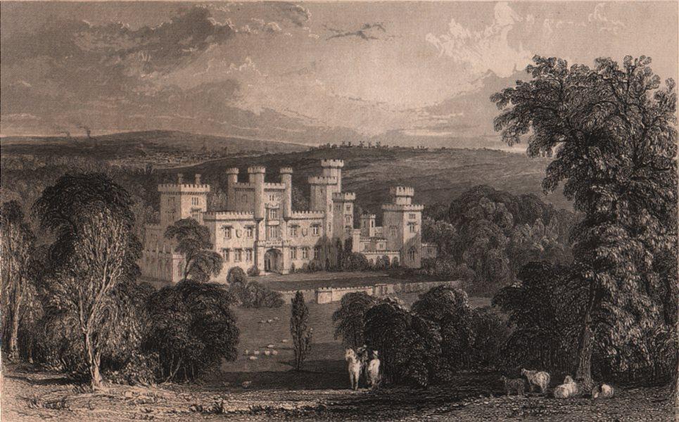 Associate Product COUNTY DURHAM. Ravensworth Castle. ALLOM 1839 old antique print picture