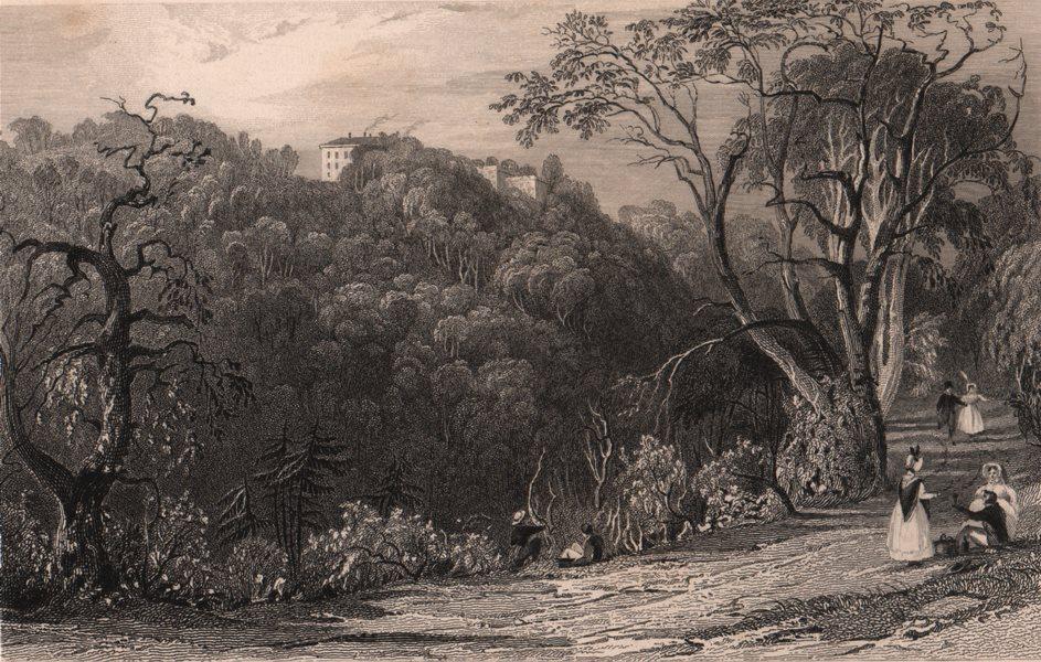 Associate Product COUNTY DURHAM. Castle Eden Hall. ALLOM 1839 old antique vintage print picture