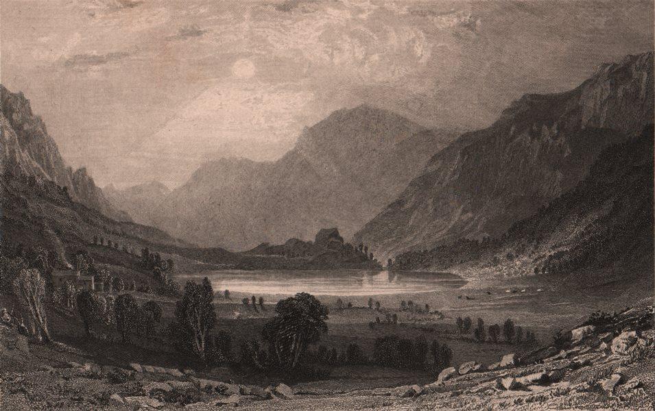 Associate Product LAKE DISTRICT. Blea Tarn, Westmoreland. Cumbria. ALLOM 1839 old antique print