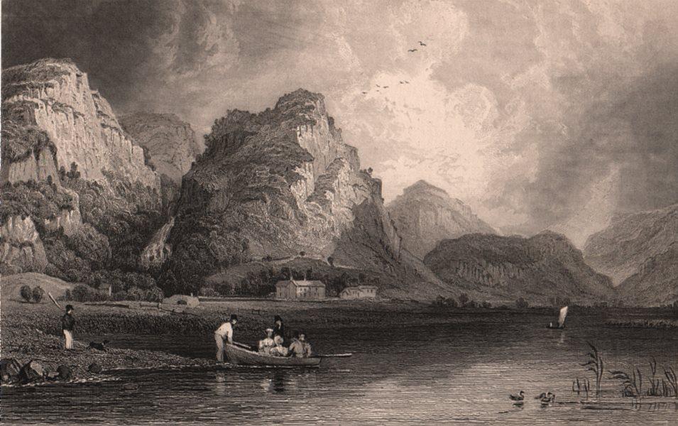Associate Product LAKE DISTRICT. Derwent Water & Lodore, Cumberland. Cumbria. ALLOM 1839 print