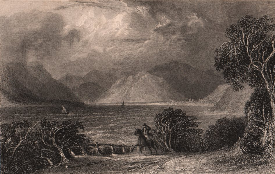 Associate Product LAKE DISTRICT. Ullswater from Pooly bridge. Cumbria. ALLOM 1839 old print