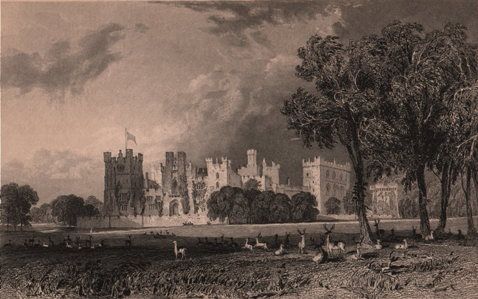 Associate Product COUNTY DURHAM. Raby Castle. ALLOM 1839 old antique vintage print picture