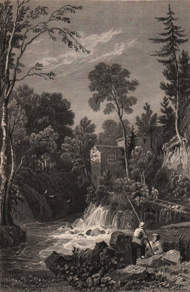 Associate Product LAKE DISTRICT. The Mill on the Stock Ghyll, near Ambleside. Cumbria 1839 print