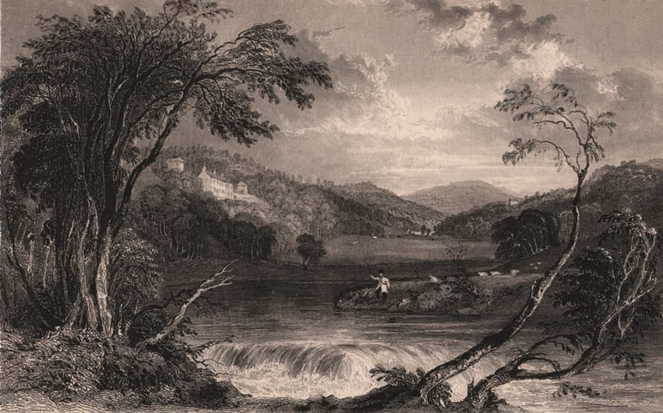 Associate Product LAKE DISTRICT. Wood Hall near Cockermouth. Cumbria 1839 old antique print