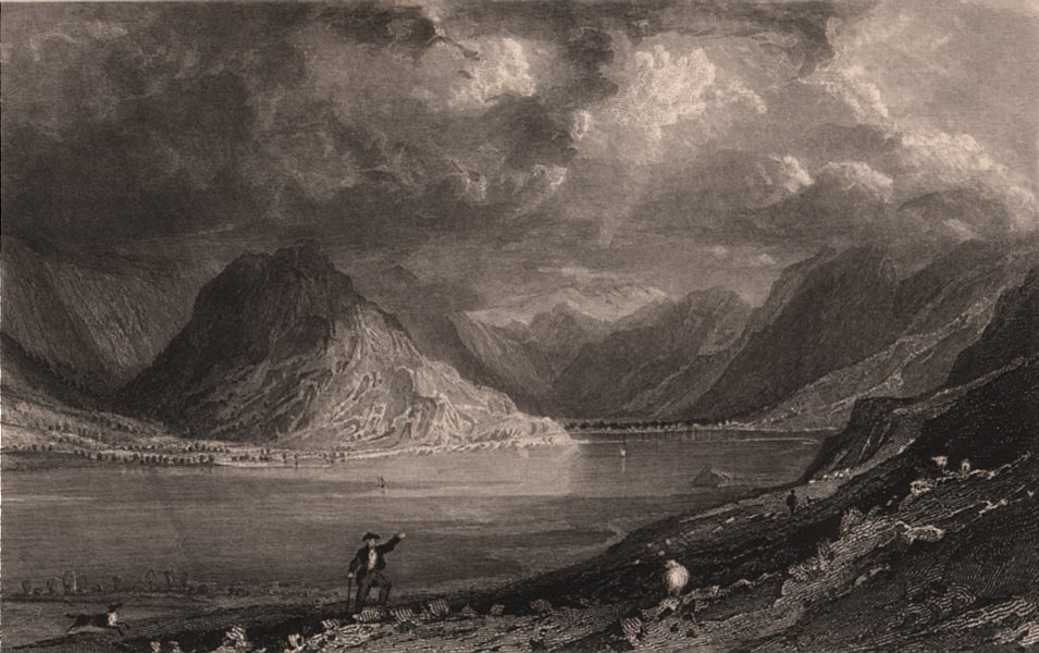 Associate Product LAKE DISTRICT. Crummock Water, Cumberland. Cumbria. ALLOM 1839 old print