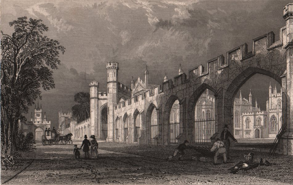 Associate Product BISHOP AUCKLAND. The palace of the Bishop of Durham. ALLOM 1839 old print