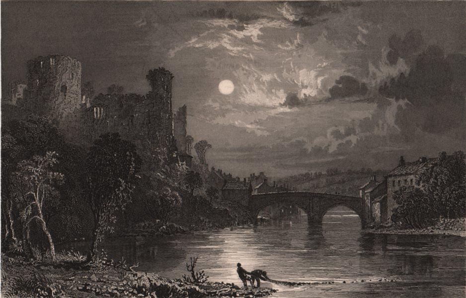 Associate Product COUNTY DURHAM. Barnard Castle. ALLOM 1839 old antique vintage print picture