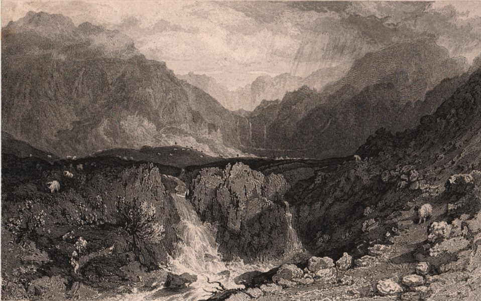 Associate Product LAKE DISTRICT. Mardale Head, Westmoreland. Cumbria. ALLOM 1839 old print