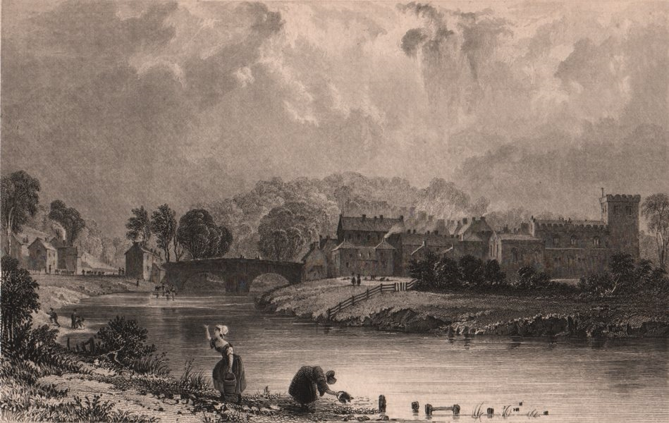 Associate Product CUMBRIA. Appleby, Westmoreland. ALLOM 1839 old antique vintage print picture