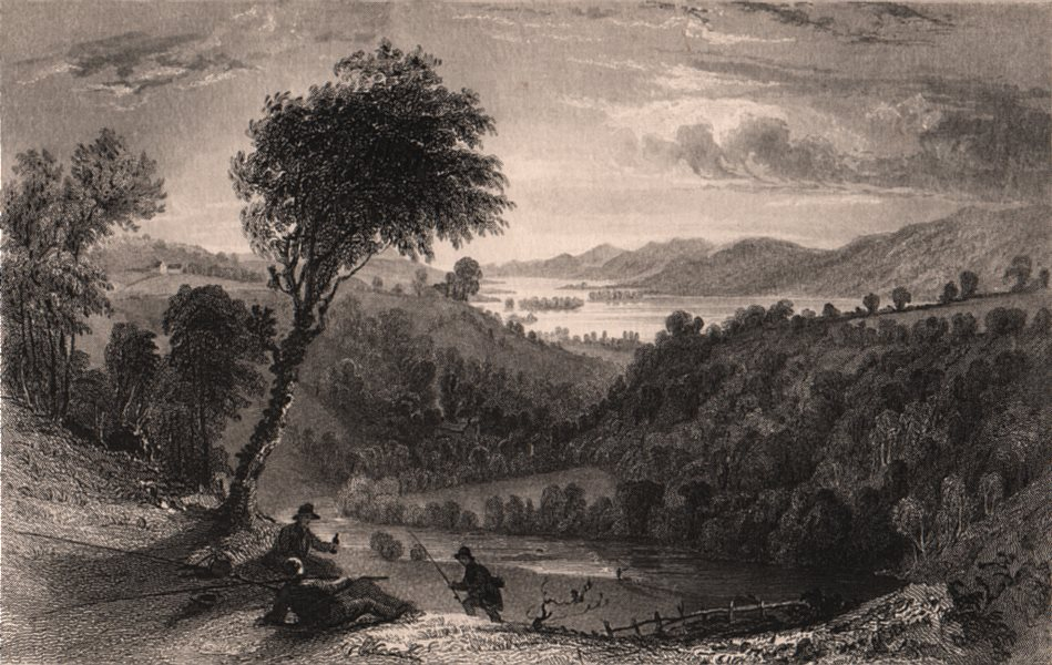 Associate Product LAKE DISTRICT. Valley of Trout Beck, Westmoreland. Cumbria. ALLOM 1839 print