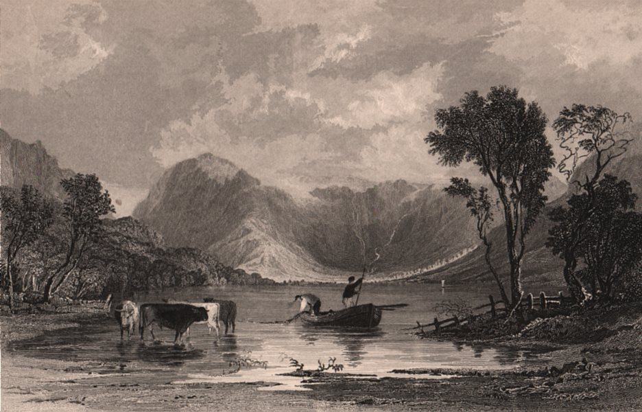 Associate Product LAKE DISTRICT. Buttermere, Cumberland. Cumbria. ALLOM 1839 old antique print