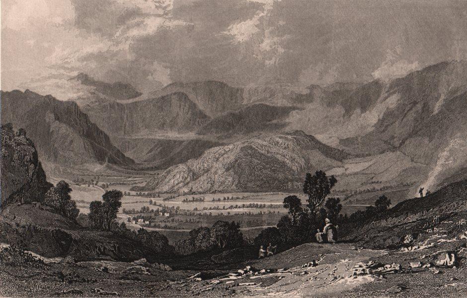 Associate Product LAKE DISTRICT. Rossthwaite, Borrowdale, from Watenlath road. Cumbria. ALLOM 1839