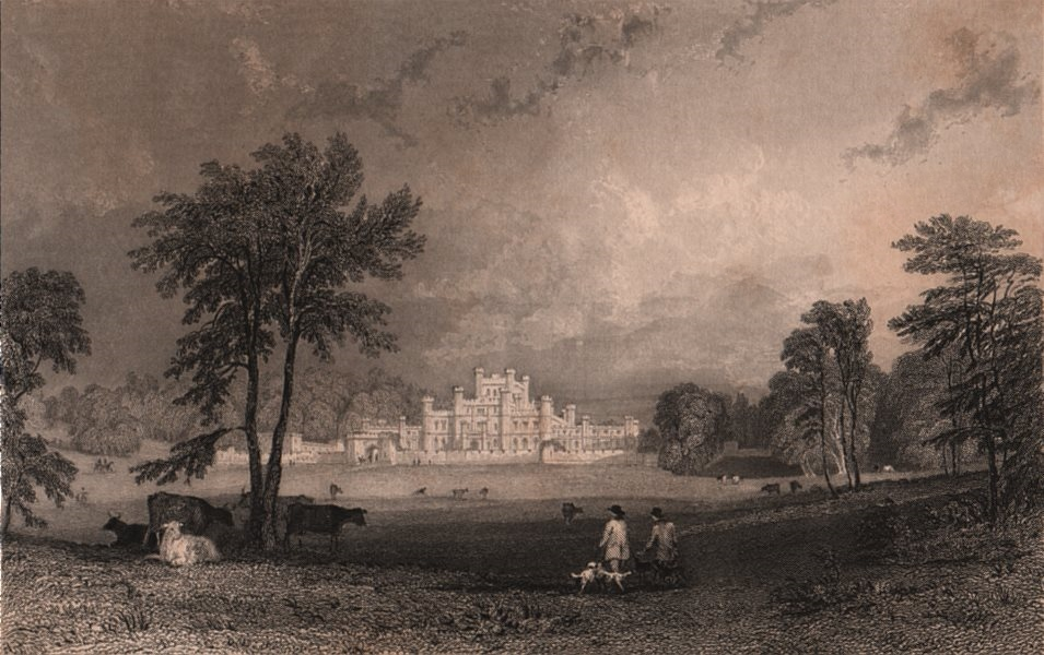 Associate Product LAKE DISTRICT. Lowther Castle & park, Westmoreland. Cumbria. ALLOM 1839 print