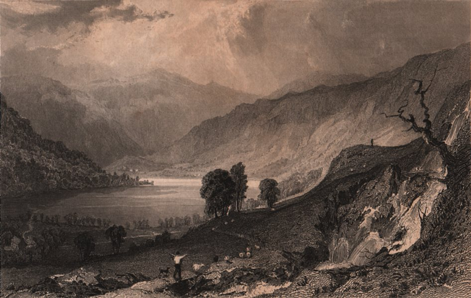Associate Product LAKE DISTRICT. Haweswater, from Thwaite-Force, Westmoreland. Cumbria. ALLOM 1839