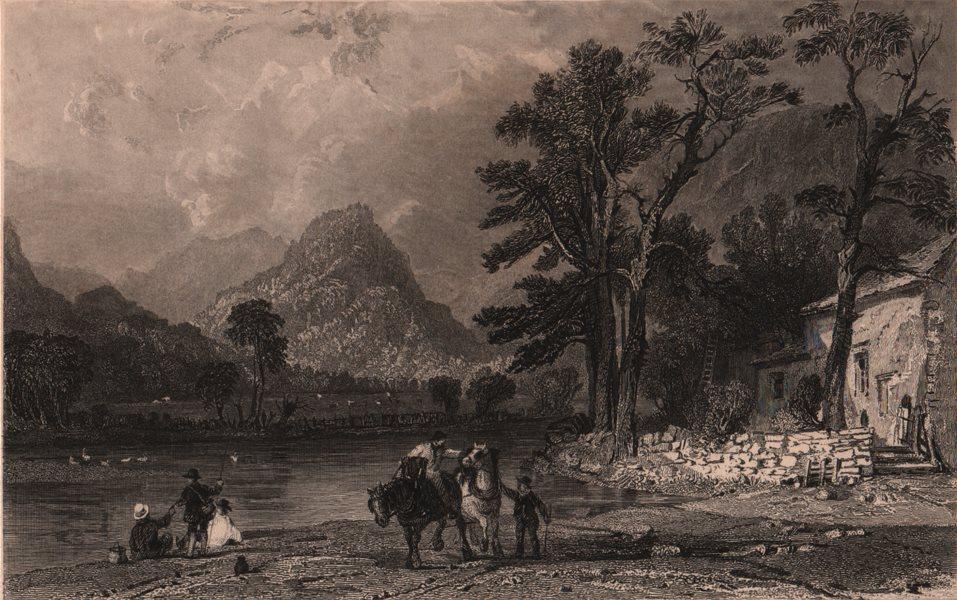Associate Product LAKE DISTRICT. Castle Crag, Borrowdale from Grange. Cumbria. ALLOM 1839 print