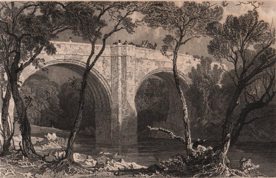 Associate Product CUMBRIA. Kirby Lonsdale bridge, Westmoreland. ALLOM 1839 old antique print