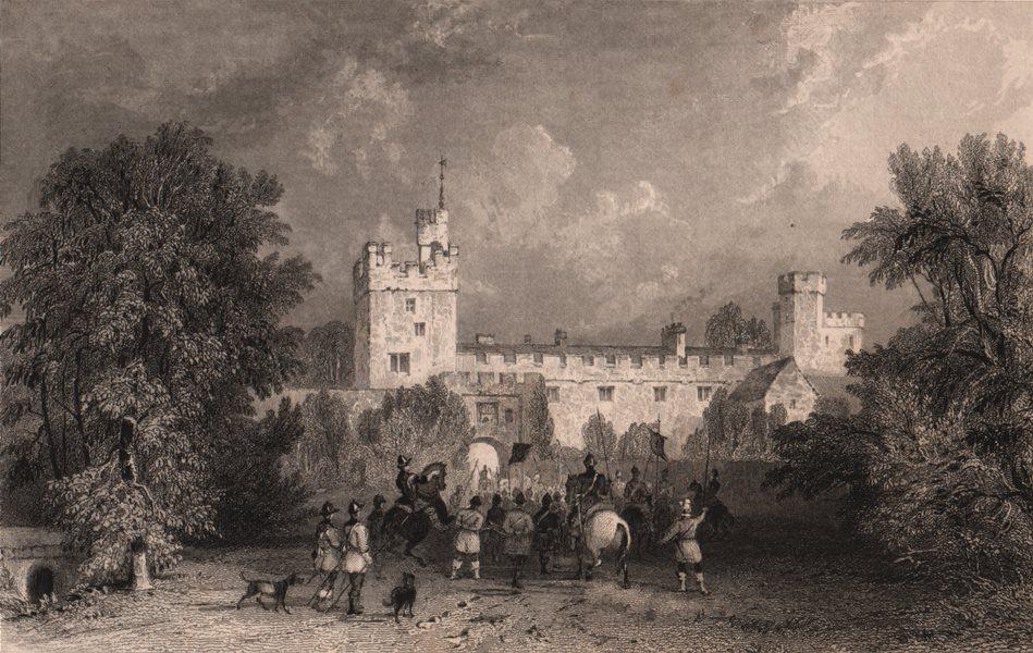 Associate Product CUMBRIA. Naworth Castle, Cumberland. ALLOM 1839 old antique print picture