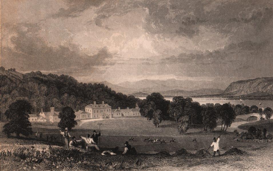 Associate Product CUMBRIA. Dallam Tower, Near Milnthorp. ALLOM 1839 old antique print picture