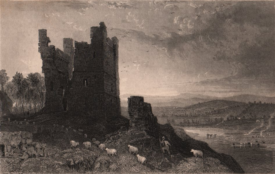 Associate Product CUMBRIA. Brough Castle, Westmorland. ALLOM 1839 old antique print picture
