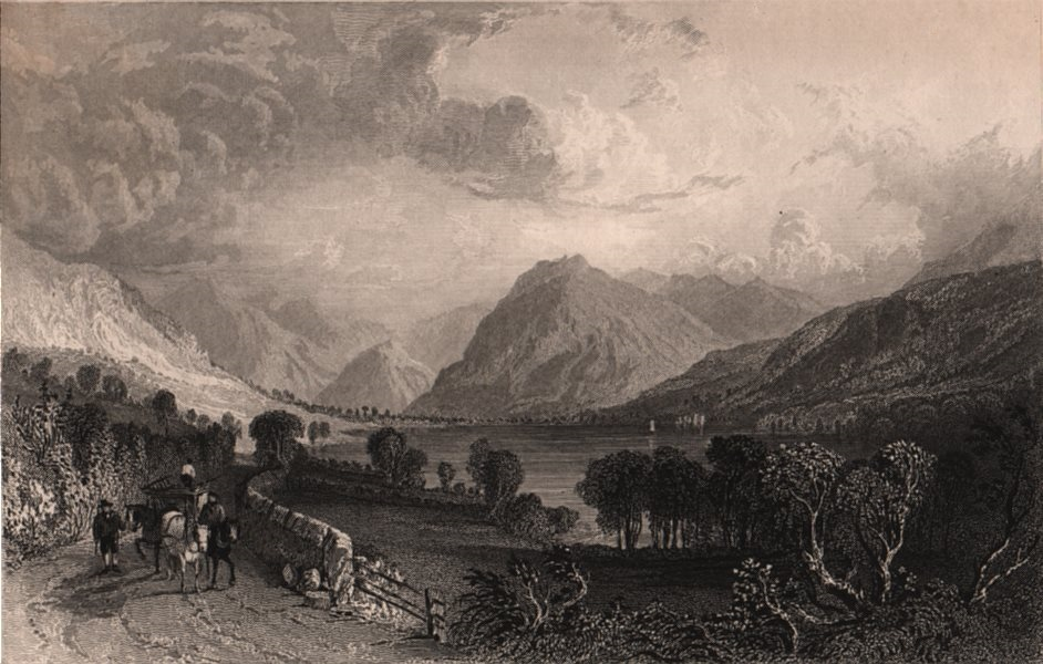 Associate Product LAKE DISTRICT. Loweswater, from Water End, Cumberland. Cumbria. ALLOM 1839