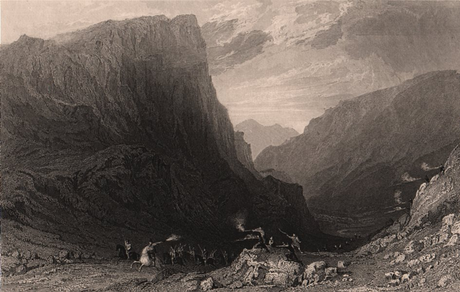 Associate Product LAKE DISTRICT. Honister Crag, Cumberland. Cumbria. ALLOM 1839 old print