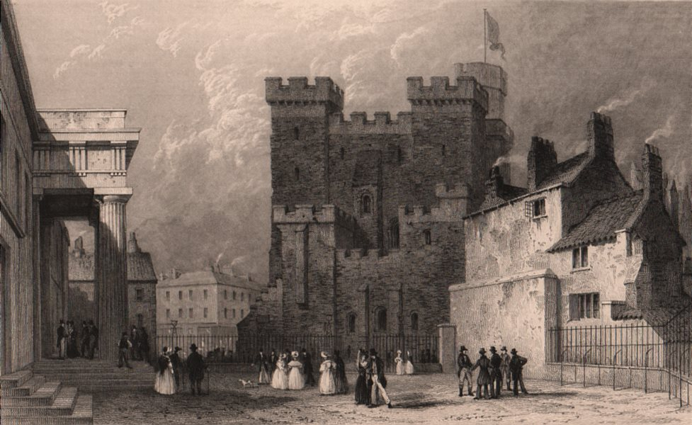 Associate Product NORTHUMBERLAND. The Castle, from the county court, Newcastle-Tyne. ALLOM 1839