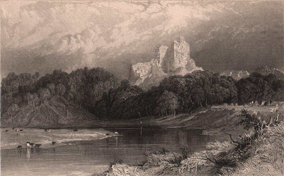 Associate Product NORTHUMBERLAND. Norham Castle, on the Tweed, North Durham. ALLOM 1839 print