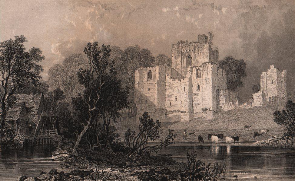 Associate Product LAKE DISTRICT. Brougham Castle, Westmoreland. Cumbria. ALLOM 1839 old print