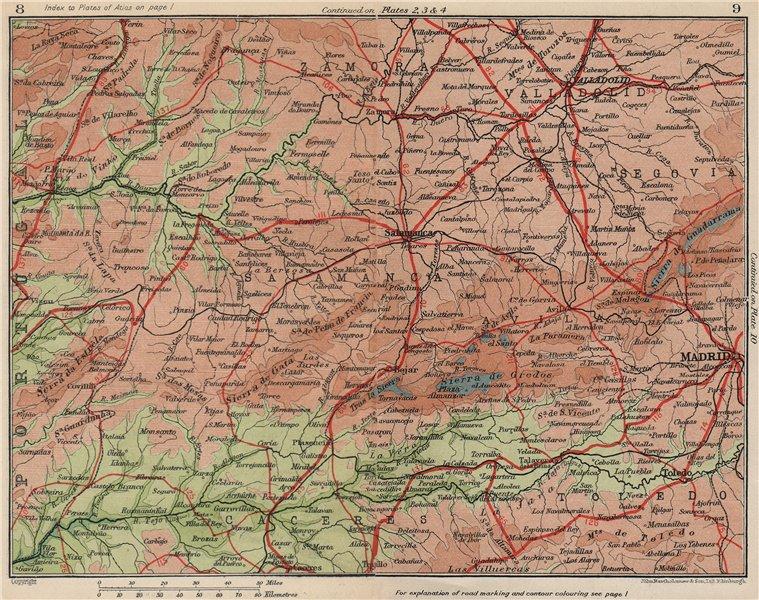 Map Of Spain Leon.Details About Castilla Y Leon Madrid Salamanca Valladolid Vintage Map Plan Spain 1930