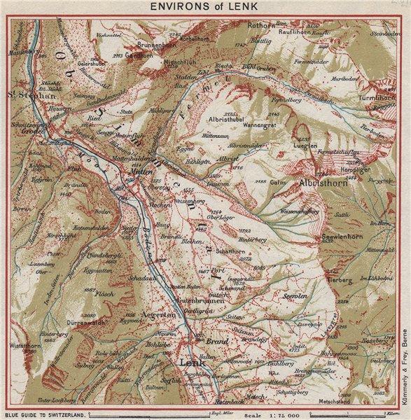 Associate Product LENK ENVIRONS.St Stephan Matten Albristhirn.Switzerland.Ober-Simmental 1948 map