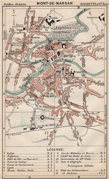 Associate Product MONT-DE-MARSAN. Vintage town city ville map plan carte. Landes 1899 old