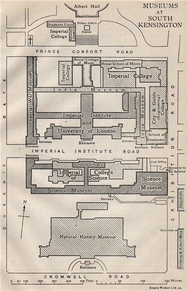Associate Product ALBERTOPOLIS. South Kensington museums. Natural History Science India 1927 map