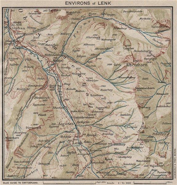 Associate Product LENK ENVIRONS.St Stephan Matten Albristhirn.Switzerland.Ober-Simmental 1930 map