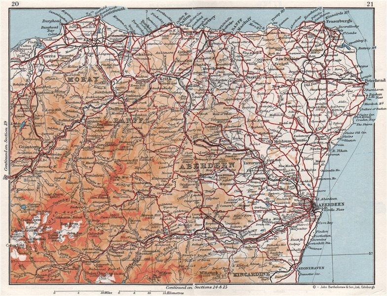 Associate Product GRAMPIAN. Abderdeenshire Banff Moray Elgin. Vintage map plan. Scotland 1967