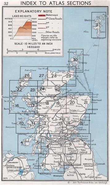 Associate Product SCOTLAND. Index map. Vintage map plan 1967 old vintage chart