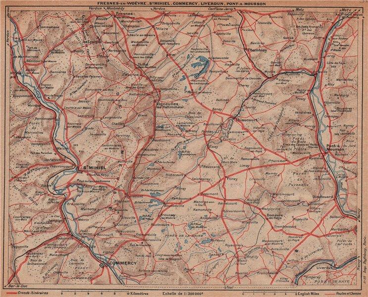 Associate Product LORRAINE. St Mihiel Commercy Liverdun Pont-à-Mousson. Meuse Moselle 1922 map