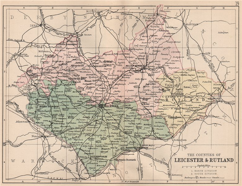 Associate Product LEICESTERSHIRE & RUTLAND. Antique county map. Constituencies. PHILIP 1882