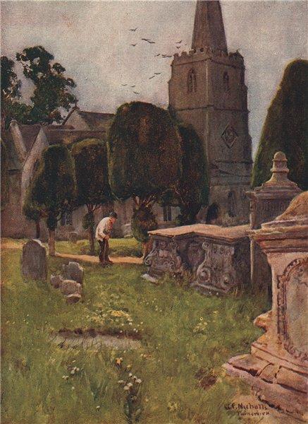 Associate Product PAINSWICK. St Mary's Church. Cotswolds. Gloucestershire. By GF Nicholls 1908