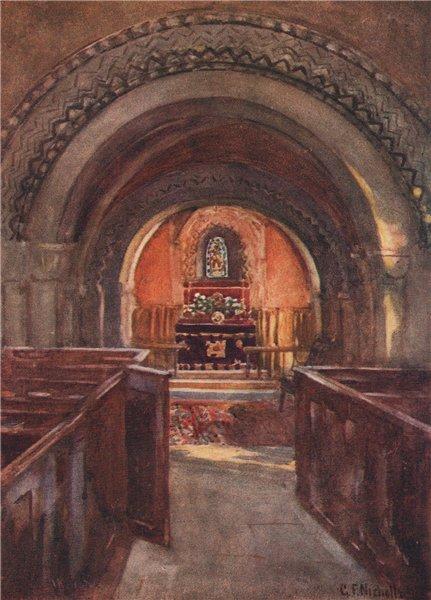 Associate Product ELKSTONE. St John the Evangelist church. Cotswolds. Glos. GF Nicholls 1908